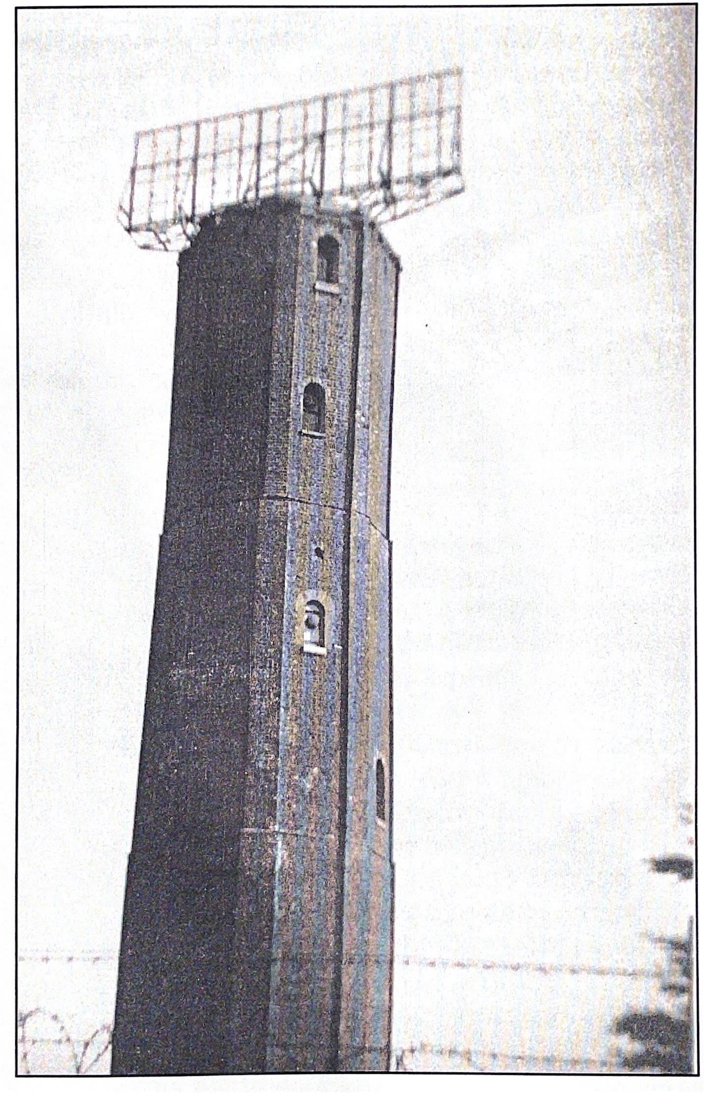 Image of Naze Tower with RADAR beacon on top